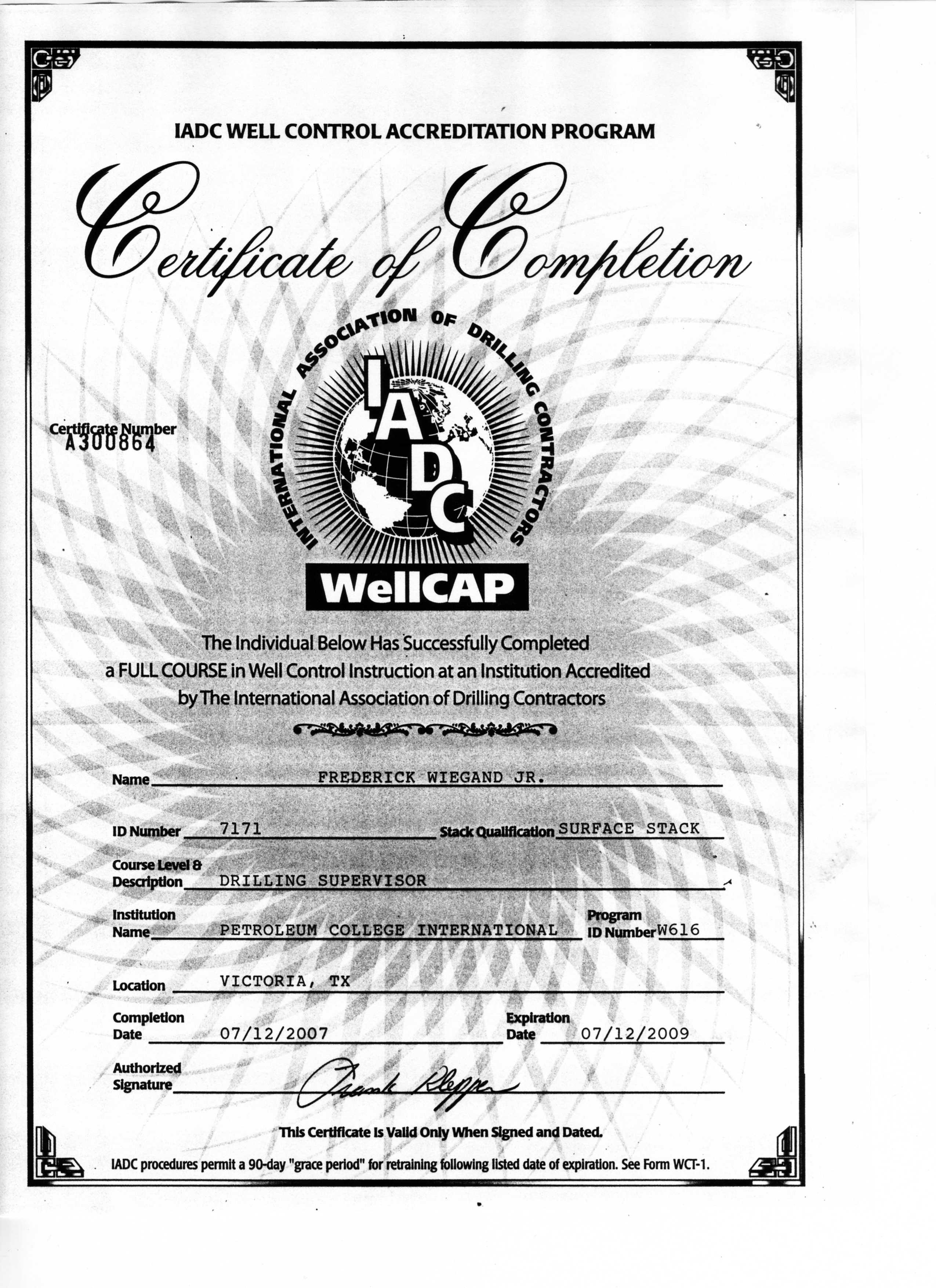 WellCapCertificateUofH12July20072009.JPG